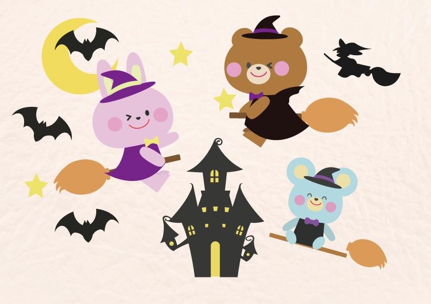 夜のハロウィンパーティー