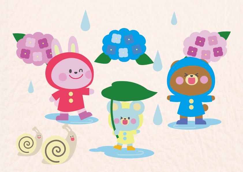 雨つぶぽったん楽しいお散歩
