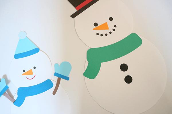 壁面 雪だるま 【動画】冬の壁面製作に活用できる!折り紙でつくる雪だるまを作ろう│保育士求人なら【保育士バンク!】