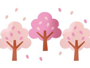 桜の木々壁面飾り