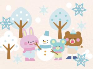 楽しい冬の雪まつり