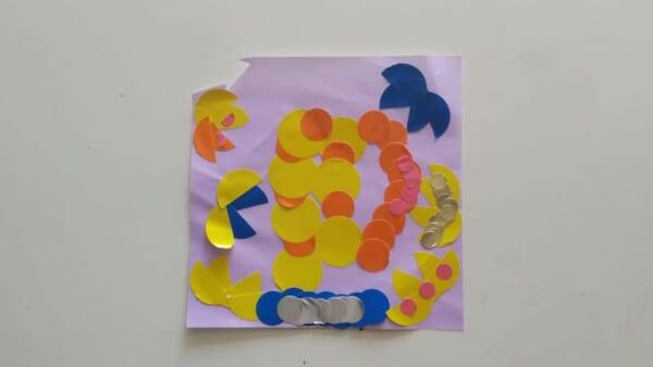 #4歳 おしゃれなシールアート