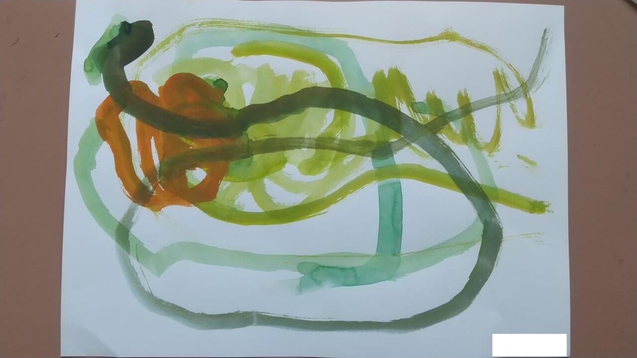 #3歳 水彩絵の具遊び
