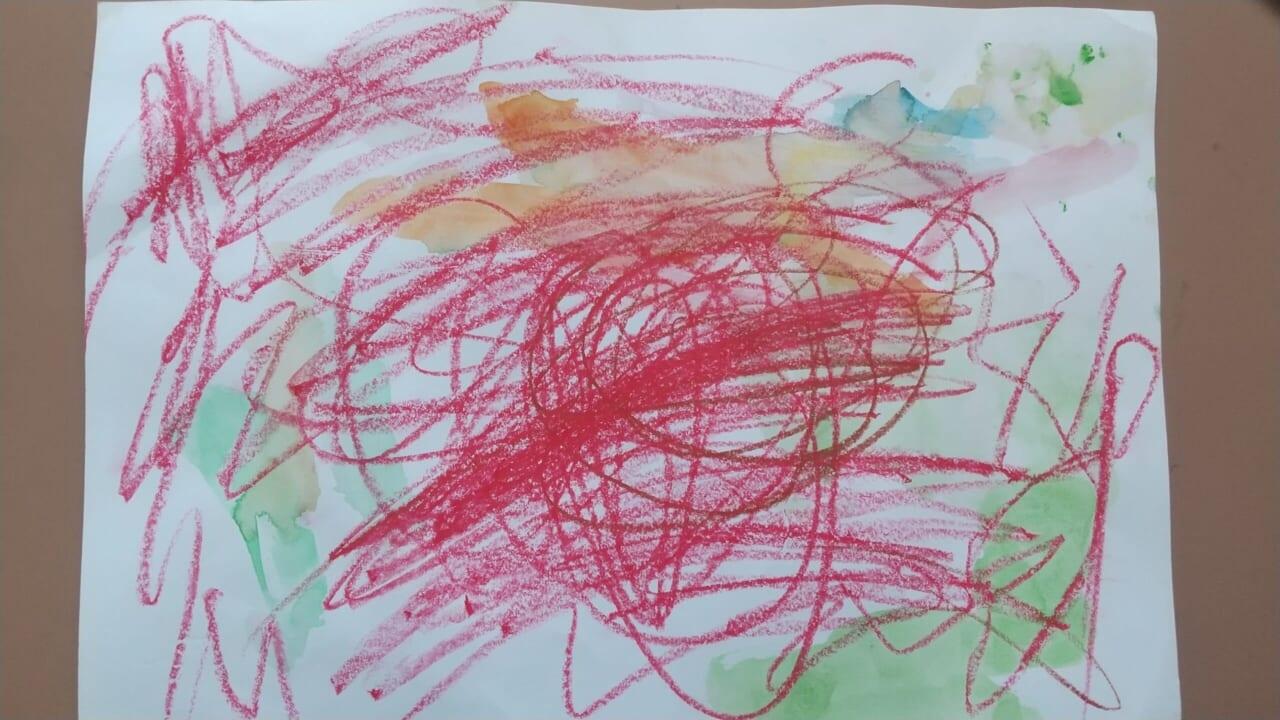 #3歳 クレヨン遊び
