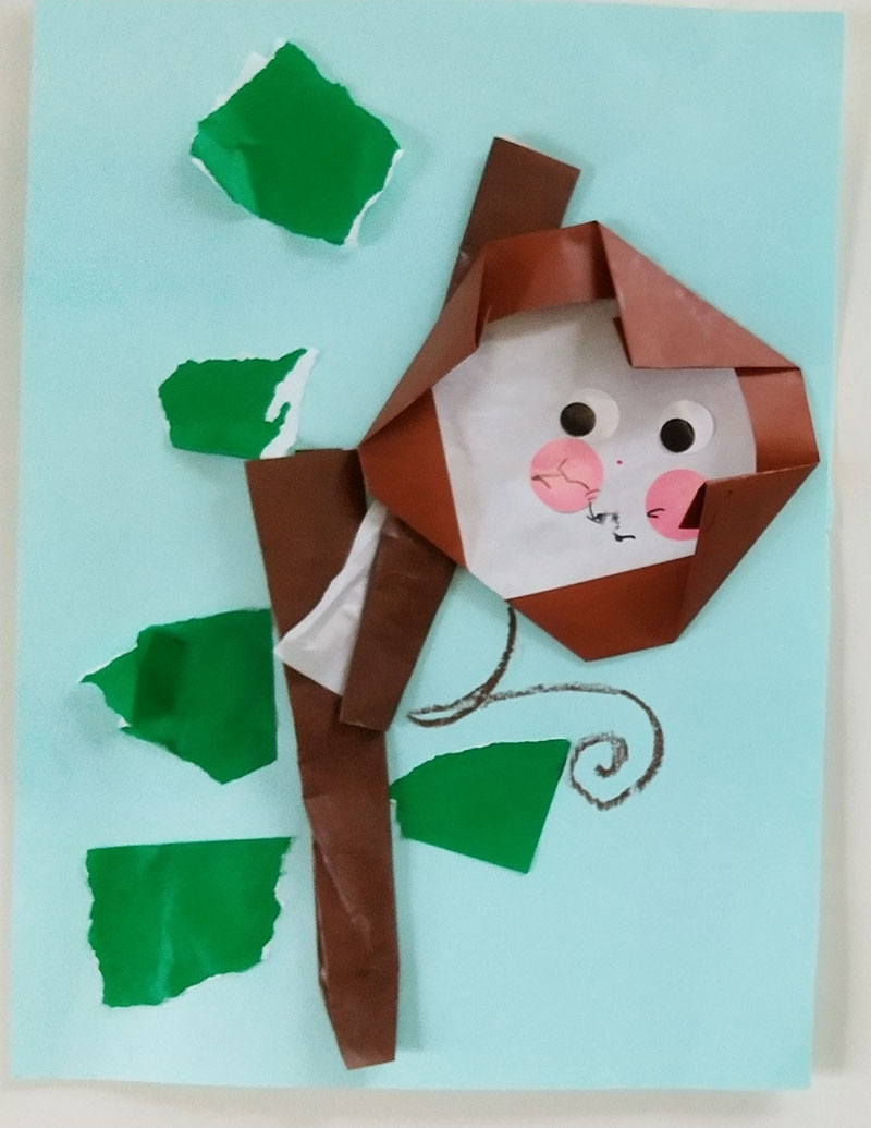#1歳 木登り上手のお猿さん