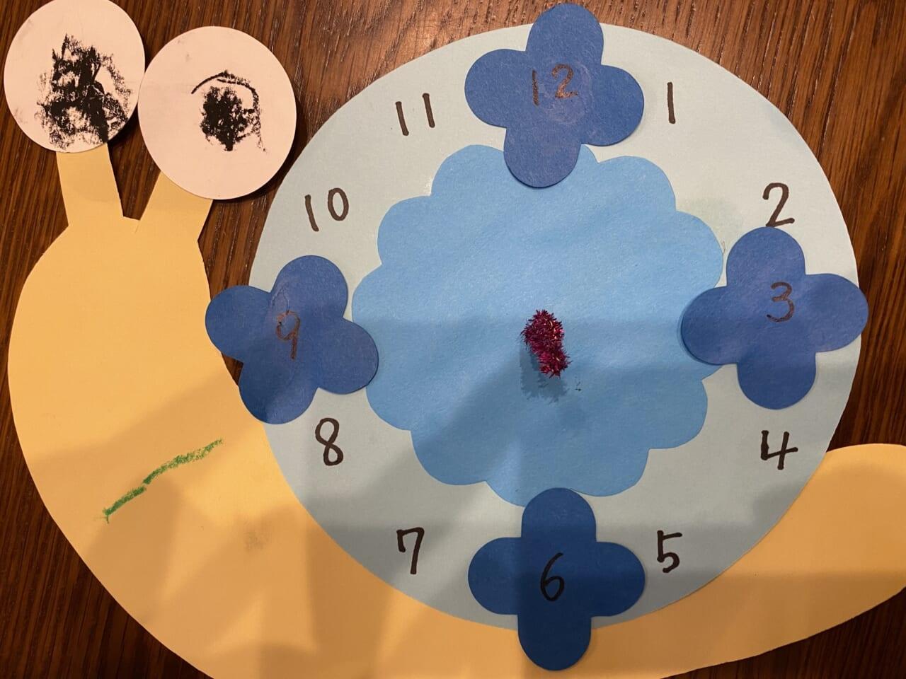 #3歳 かたつむり時計