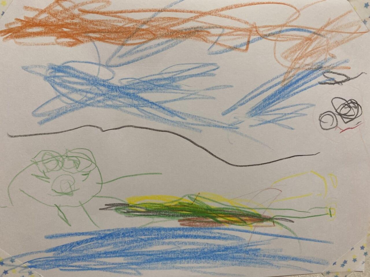 #3歳 カエルとハヤブサと僕