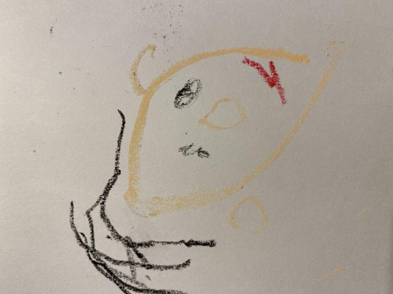 #3歳 自画像練習①