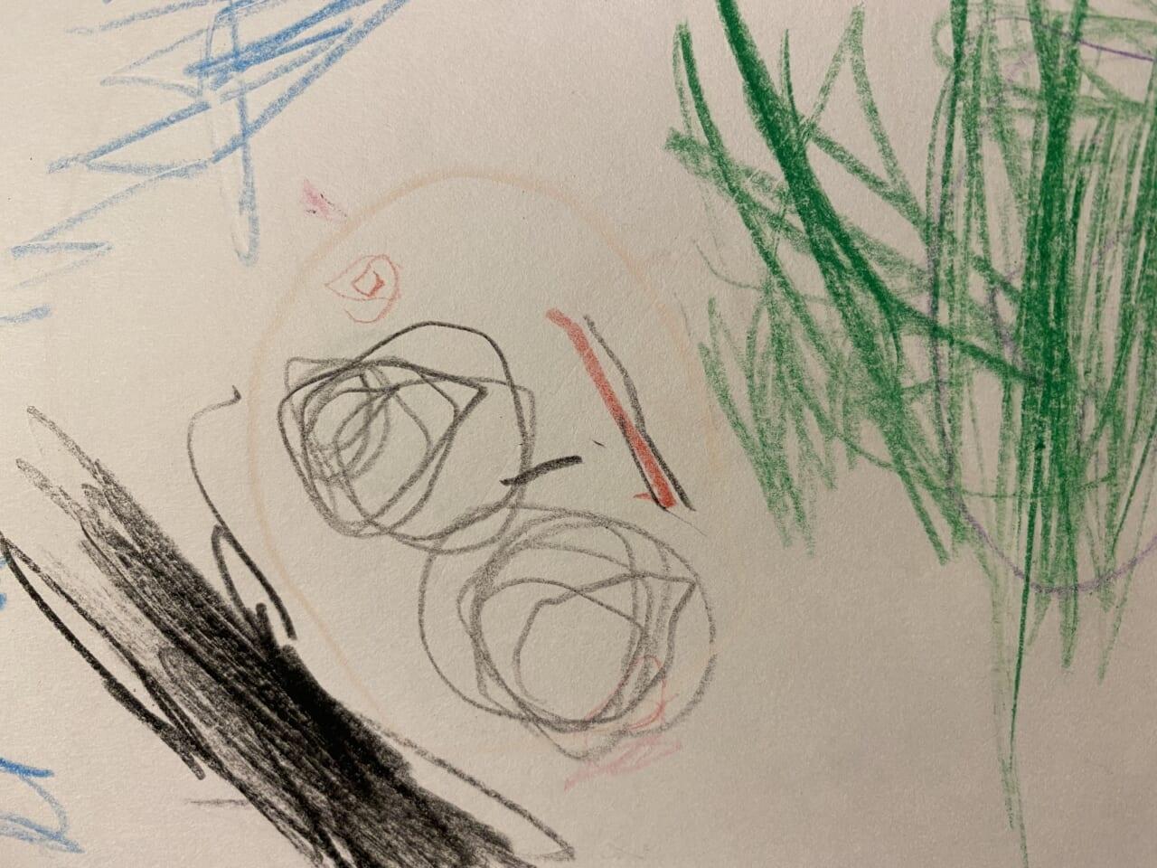 #3歳 自画像練習②