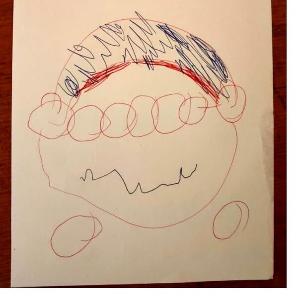 #2歳 上手に描けたね