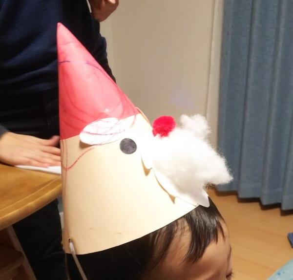 #3歳 サンタさん帽子