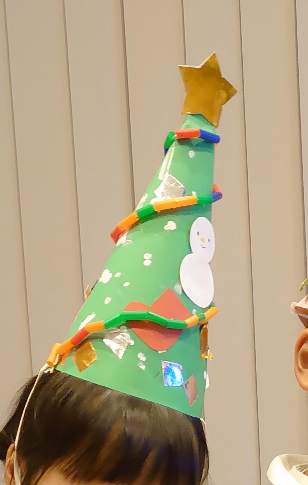 #3歳 クリスマスツリー帽子