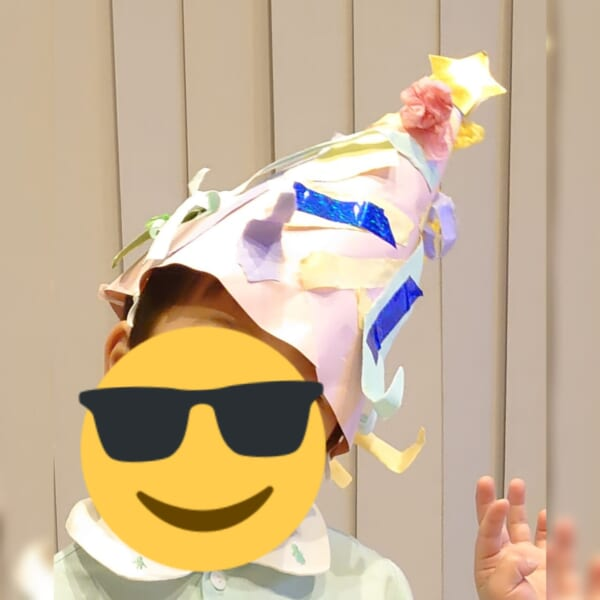 #4歳 クリスマスツリー帽子