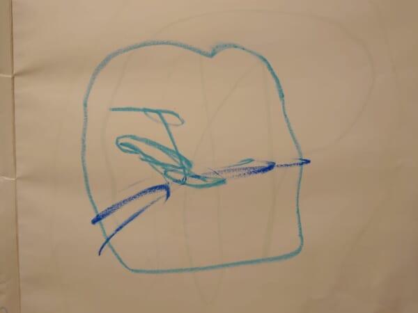 #3歳 色んな青色を発見したよ!
