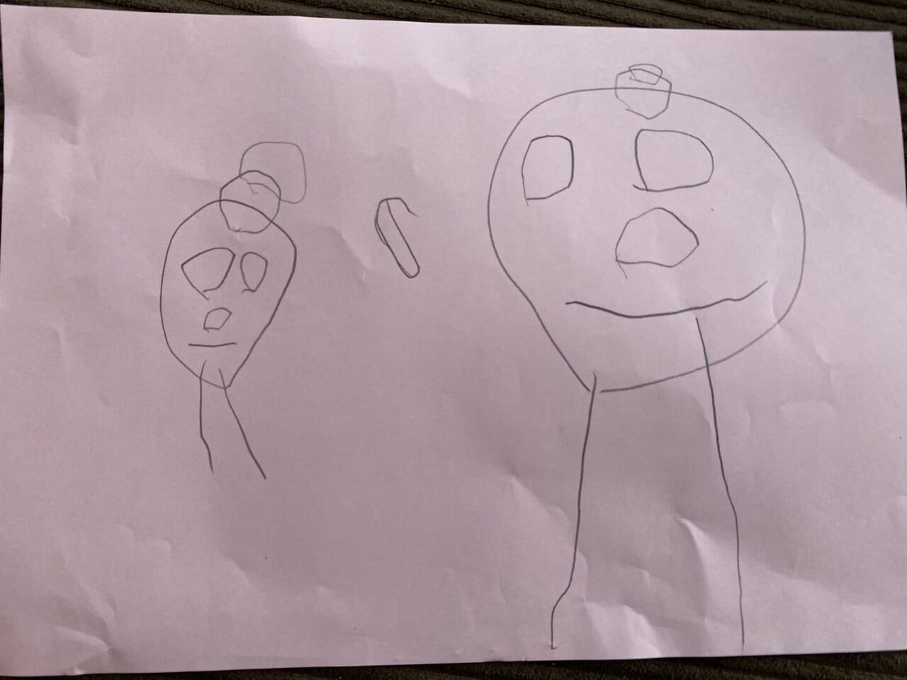 #4歳 お母さんを書いたよ