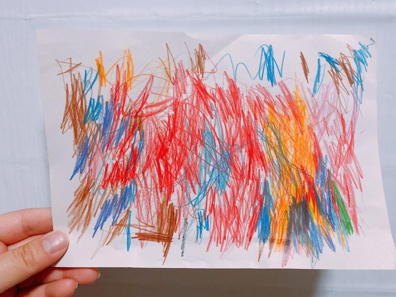 #4歳 たくさんの色を使って虹