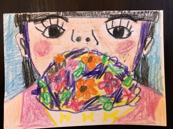 #9歳 ママとお花