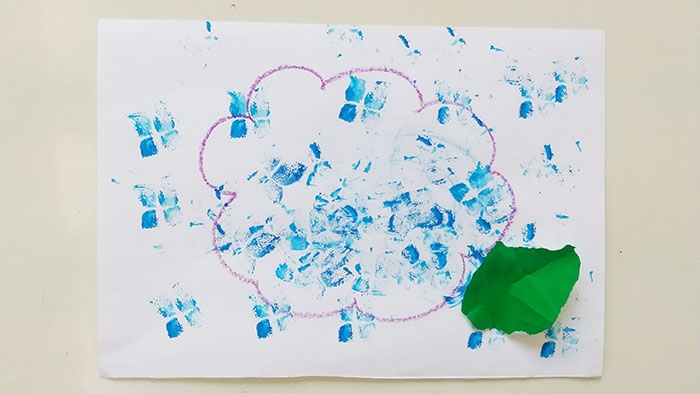#3歳 紫陽花スタンプ